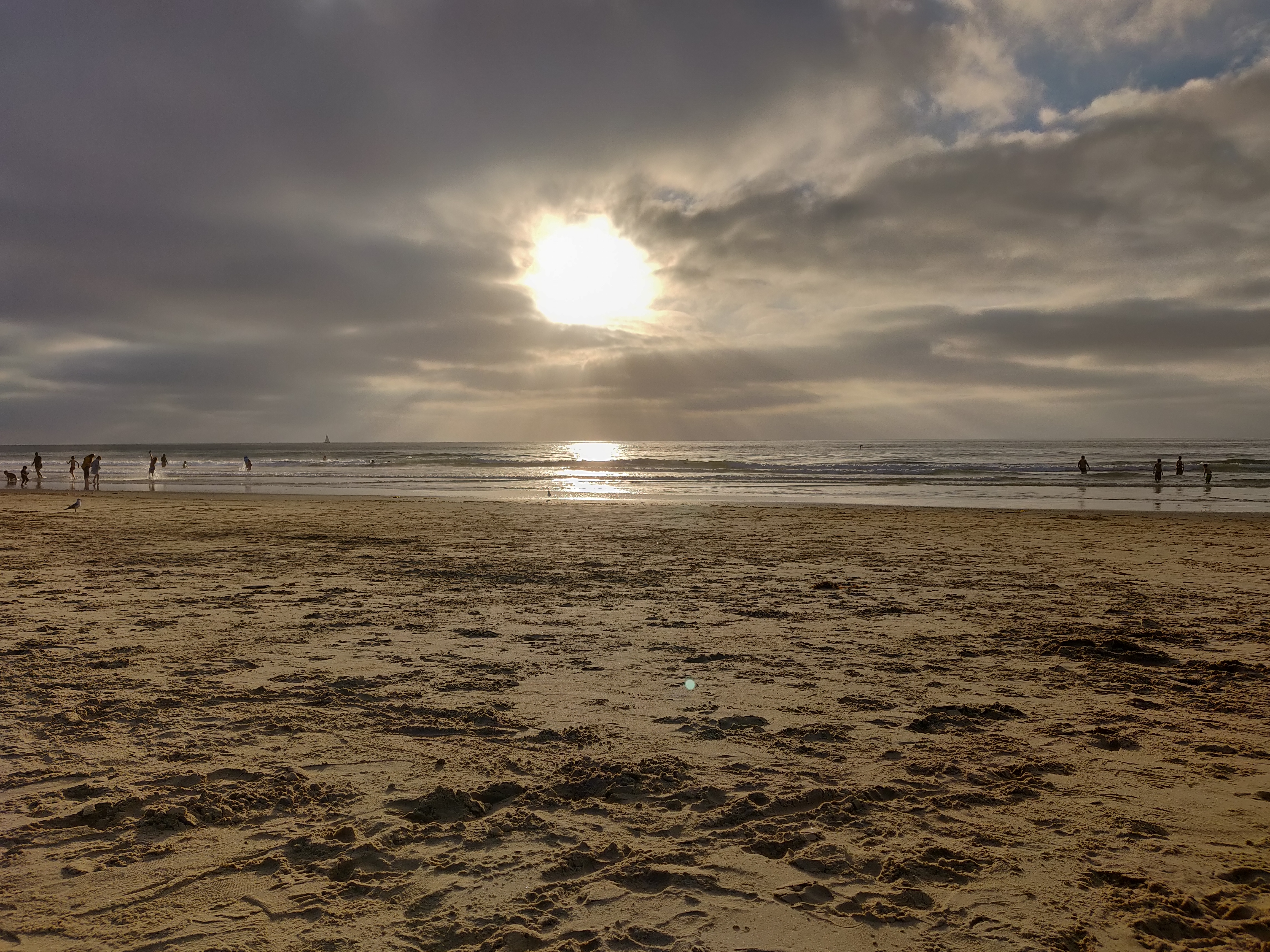 The Pacific Ocean at San Diego Mission Beach in the afternoon